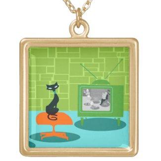 Retro Black Cat Necklaces
