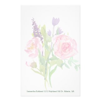 Floral Bouquet Custom Stationery