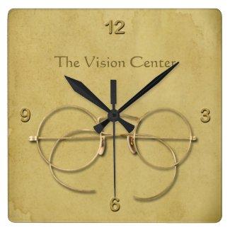 Ophthalmologist, Optometrist or Optician Large Clock