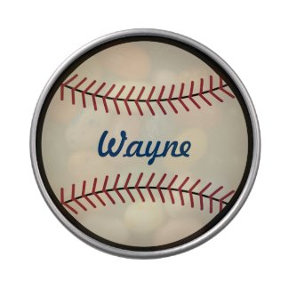 Personalized Baseball Candy Tin
