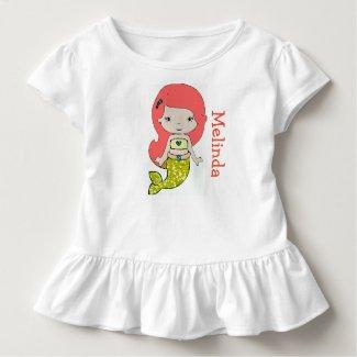 Personalized Mermaid Toddler Tshirt