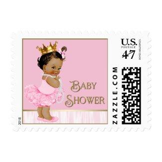 Ethnic Ballerina Tutu Pearl Baby Shower Postage Stamp