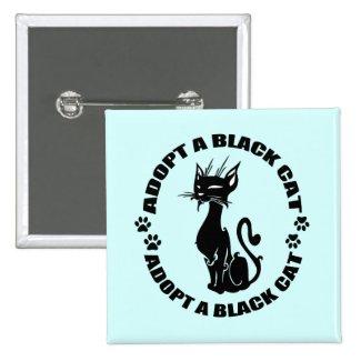 *Custom Color* Adopt a Black Cat Pins