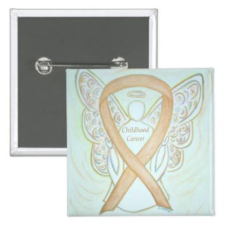 Childhood Cancer Angel Gold Awareness Ribbon Pins