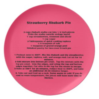Strawberry Rhubarb Pie Recipe Plate