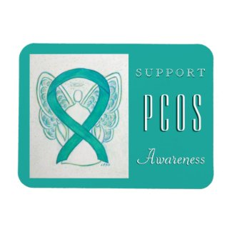PCOS Polycystic Ovarian Syndrome Awareness Magnets