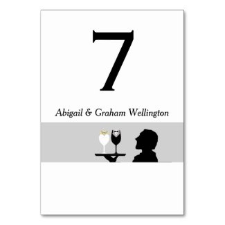 Butler Table Number Card