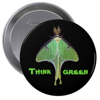 Luna Moth Earth Day Button