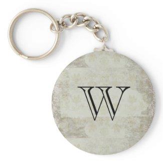 Vintage Styled Monogram Keychain