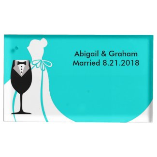 Perfect Couple Wedding Table Card Holder
