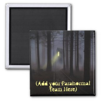 Personalized Paranormal Team Haunted Woods Magnet