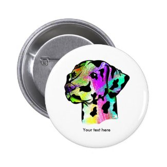 Dalmatian Dog Head Button