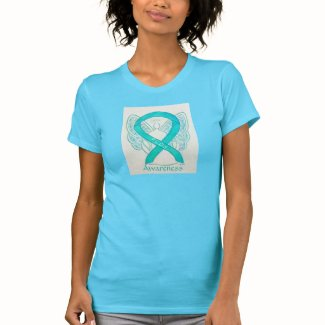 Polycystic Ovarian Syndrome Awareness Ribbon Shirt