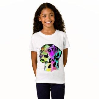 Cute Dalmatian Dog Head T-Shirt