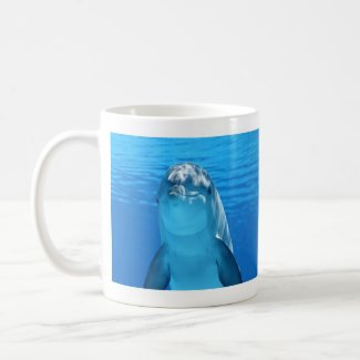 Friendly Dolphin Photo Mug