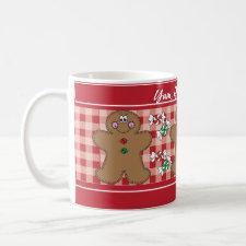 Yum, Yum, Yummy Retro Gingerbread | Christmas Coffee Mug