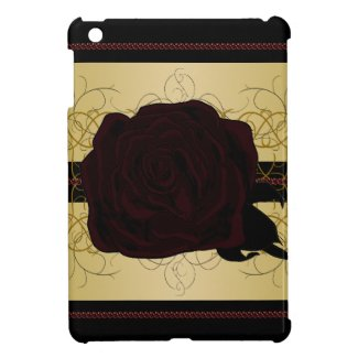 Black Rose Goth Dark Princess CricketDiane iPad Mini Cover