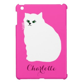 Fluffy White Persian Cat iPad Mini Cases