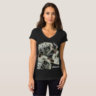 Women's Bella Canvas Jersey V-Neck T-Shirt