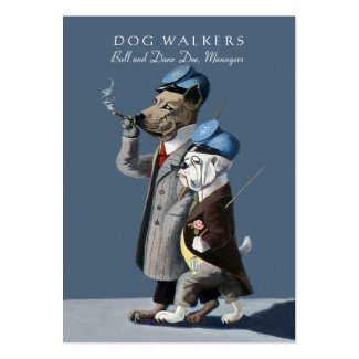 The Dog Walkers/Pet Sitter Card Large Business Card