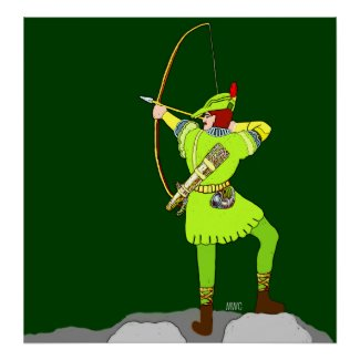 Robin Hood Bow And Arrow Poster