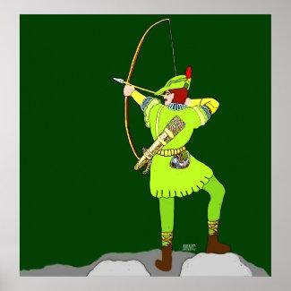 Robin Hood Bow And Arrow Poster