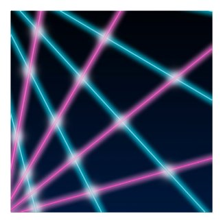Cool 80s Laser School Portrait Backdrop Background Poster