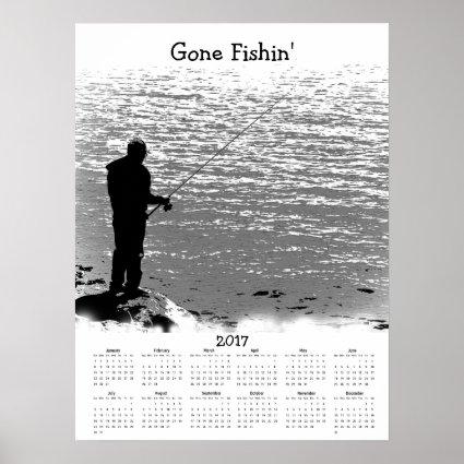 Fishing at the Lake 2017 Sports Calendar Poster