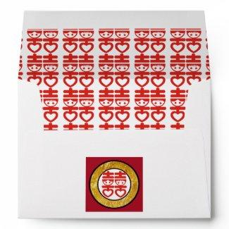 Chinese Theme Invite Envelope