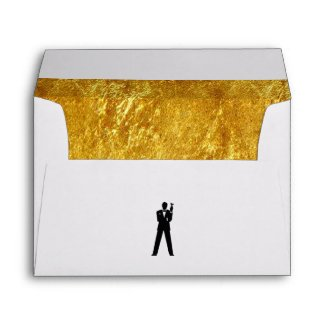 Inner Gold Invite Envelope
