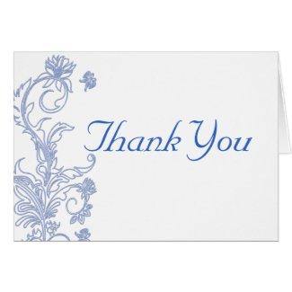 Flora Sonata Blue Thank You Card