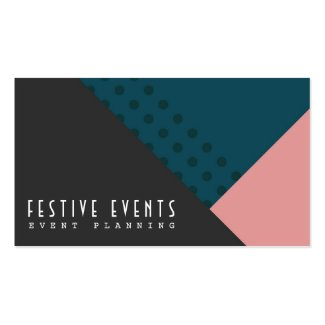 Stylish Event Planner Personal Business Cards