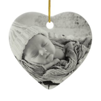 Gray Baby Boy Keepsake Ornament