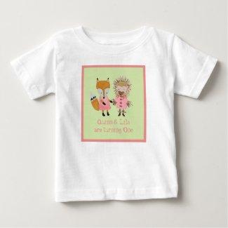 Quinn & Lila Woodland Fox and Hedgehog Theme T-shirt