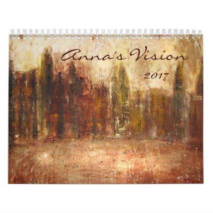 Annas Vision 2017 Fine Art Painting Wall Calendar