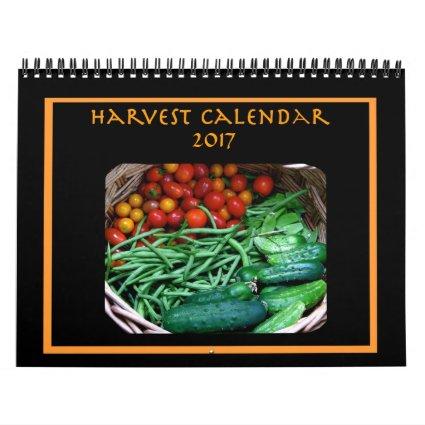 Vegetable Garden Harvest 2017 Kitchen Food Nature Calendar
