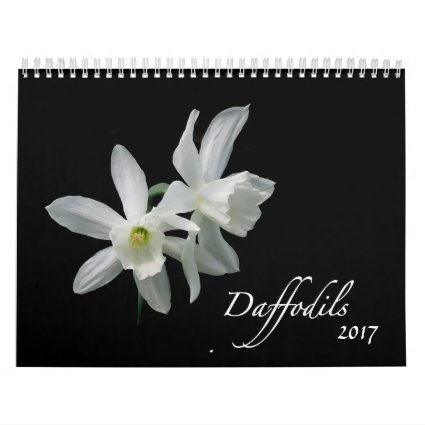 Daffodil Flowers 2017 Floral Photography Calendar