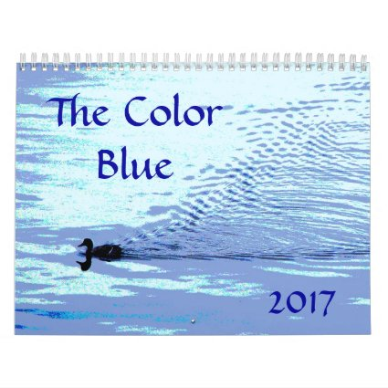 Color Blue 2017 Nature Art Photography Calendar