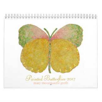 Painted Butterflies 2017 Calendar