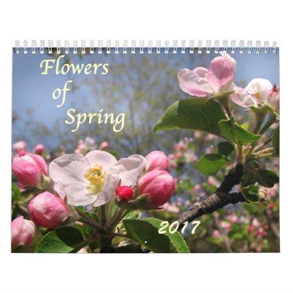 Garden Flowers of Spring 2017 Floral Wall Calendar