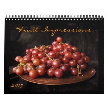 Fruit Impressions 2017 Food Photography Calendar
