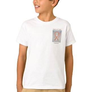 Childhood Cancer Awareness Ribbon Angel Art Shirts