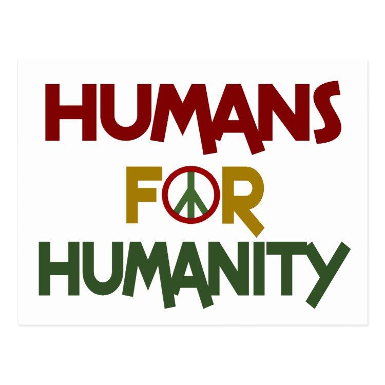 Humans For Humanity Custom Postcard