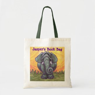 Elephant Yellow Personal Book Bag