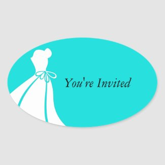 Maid of Honor or Bridesmaid Invite Envelope Seal Oval Sticker