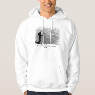 Thoreau Fishing Time Quote Hoody
