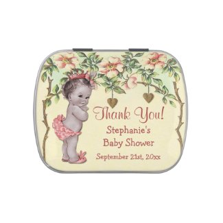 Vintage Princess Baby Shower Thank You Favor Jelly Belly Tins