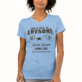 CUSTOMIZE Awesome Goat Lover Alpine Goat T-Shirt