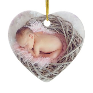 Baby's First Christmas Photo Ornament Keepsake