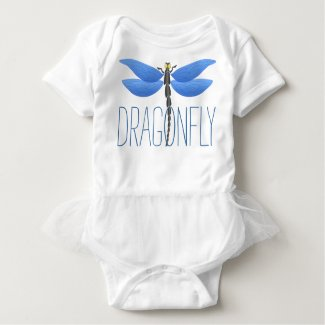 Party time! Blue dragonfly personalized T-shirt